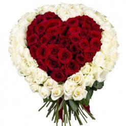 101 роза сердце фото букета