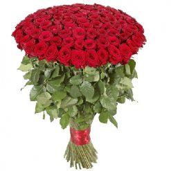 101 красная метровая роза фото букета
