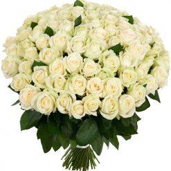 101 белая роза фото товара
