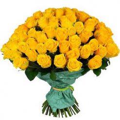 101 желтая роза фото букета