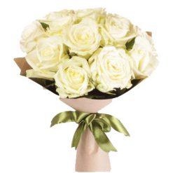 11 белых роз фото товара