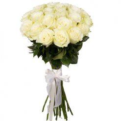 21 белая роза фото товара